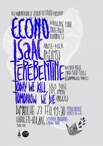 [#256] Econo + ISaAC + Térébenthine + TWKTWD @ La Mécanique Ondulatoire // dimanche 23 février