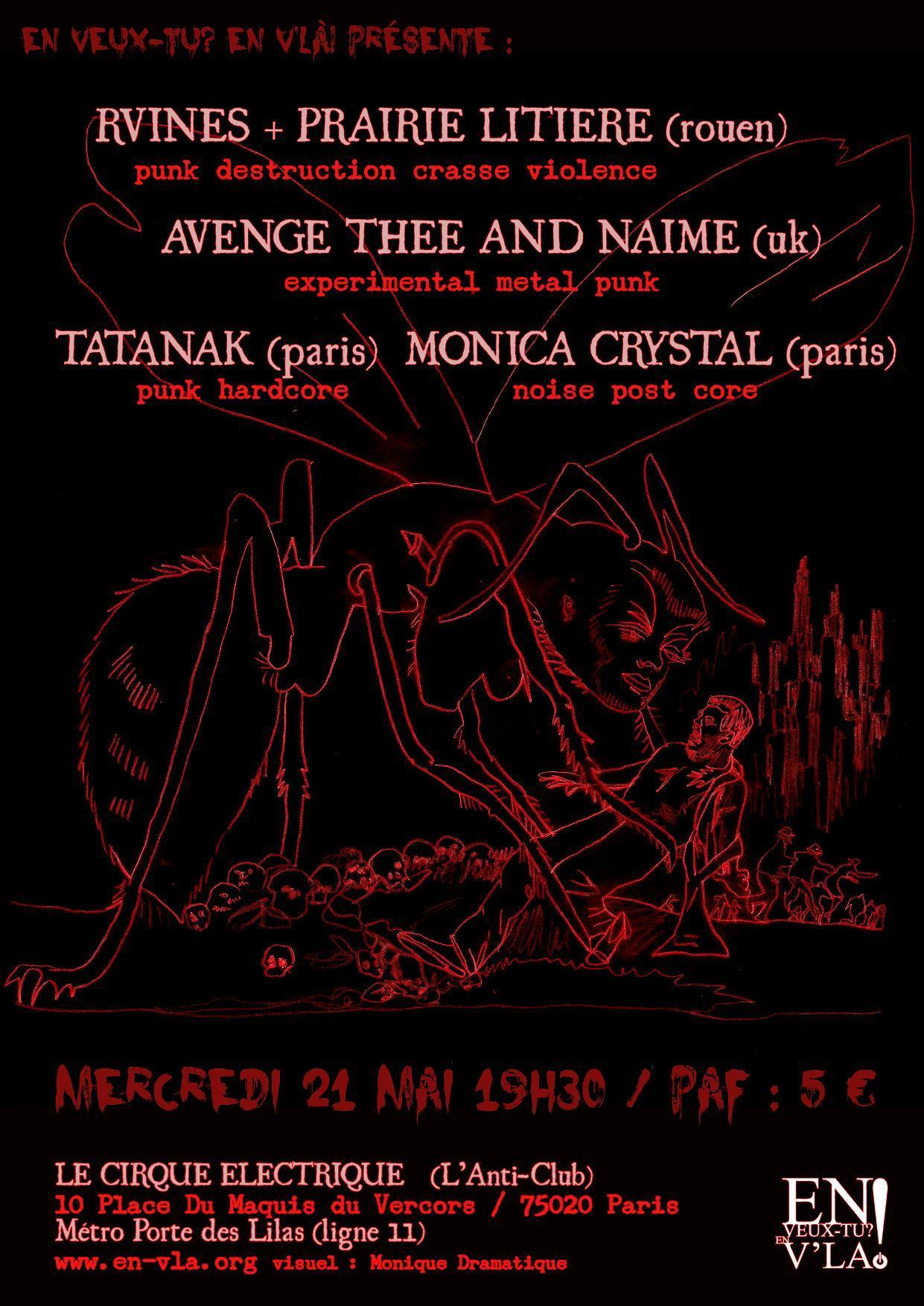 274 rvines avenge thee and naime tatanak monica - Le cirque electrique porte des lilas ...
