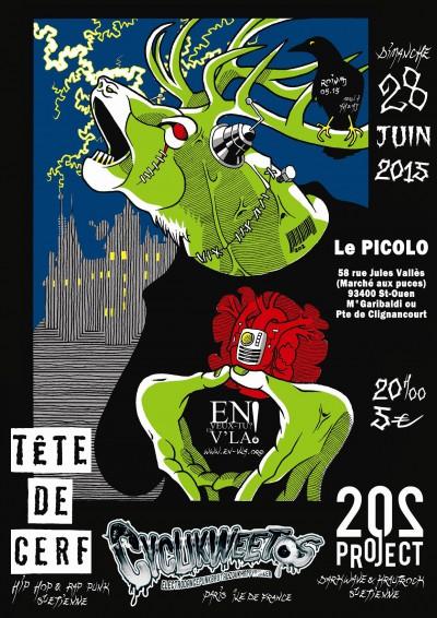 [#344] 202Project + Tête de Cerf + Cyclikweetos @ Le Picolo // dimanche 28 juin