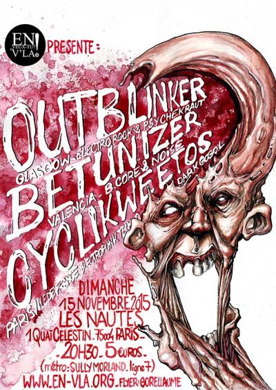 [CONCERT ANNULÉ] Outblinker + Betunizer + Cyclikweetos @ Les Nautes // dimanche 15 novembre