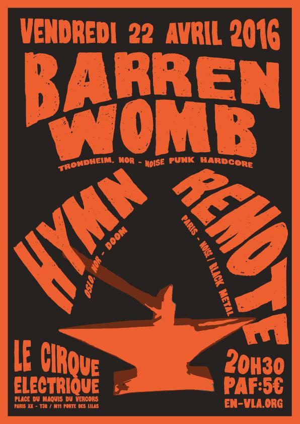 388 barren womb hymn remote le cirque electrique - Le cirque electrique porte des lilas ...