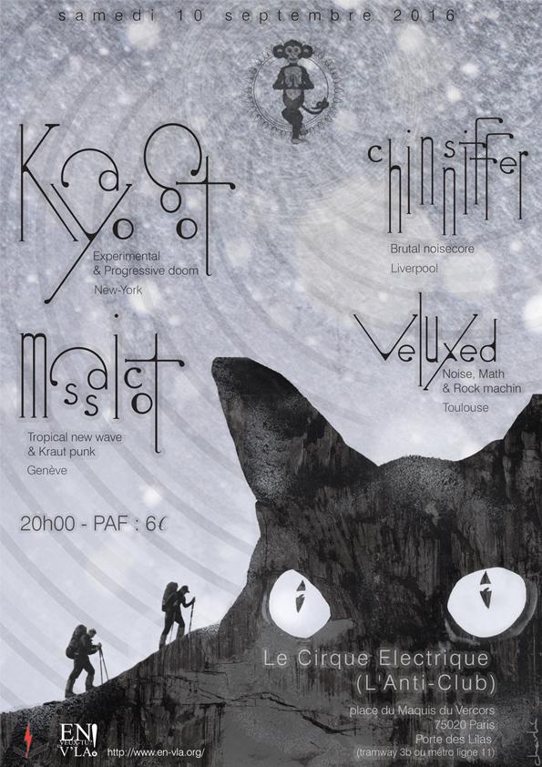 Kayo dot massicot chinsniffer veluxed paris cirque - Le cirque electrique porte des lilas ...