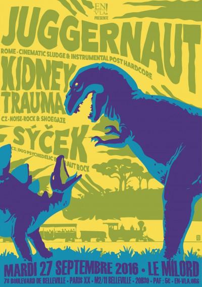 [#410] Juggernaut + Kidney Trauma + Sýček @ Le Milord // mardi 27 septembre