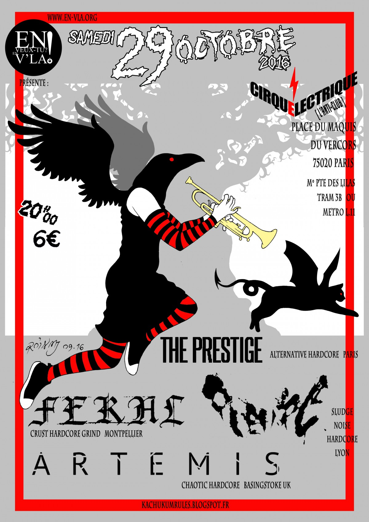 421 pl vre feral artemis the prestige le cirque electrique samedi 29 octobre en - Le cirque electrique porte des lilas ...
