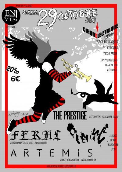 [#421] Plèvre + Feral + Artemis + The Prestige @ Le Cirque Electrique // samedi 29 octobre