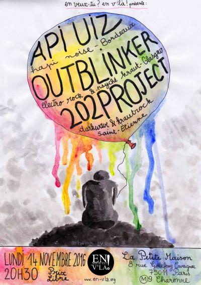 [#426] Api Uiz + Outblinker + 202Project @ La Petite Maison // lundi 14 novembre