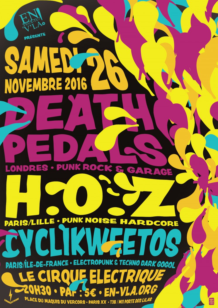Death pedals h o z cyclikweetos paris cirque - Le cirque electrique porte des lilas ...