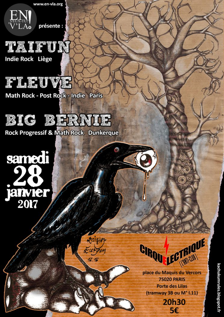 435 big bernie ta fun fleuve le cirque electrique samedi 28 janvier en veux tu en - Le cirque electrique porte des lilas ...