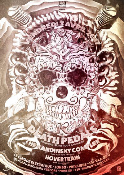 [#449] Death Pedals + The Kandinsky Complex + Hovertrain @ Le Cirque Electrique // vendredi 7 avril