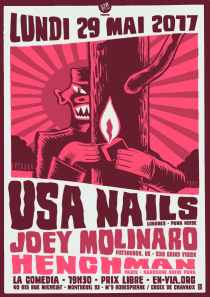 [#463] USA Nails + Joey Molinaro + Henchman @ La Comedia // lundi 29 mai