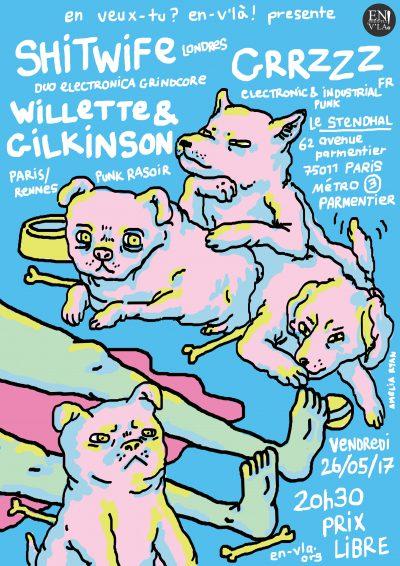 [#461] Grrzzz + Cyclikweetos + Willette & Gilkinson @ Le Stendhal // vendredi 26 mai