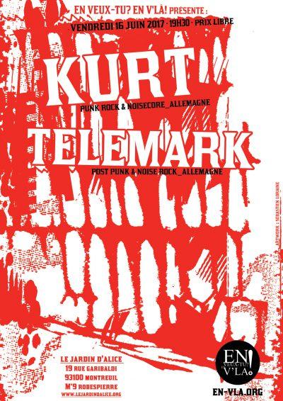 [#466] Kurt + Telemark @ Le Jardin d'Alice // vendredi 16 juin