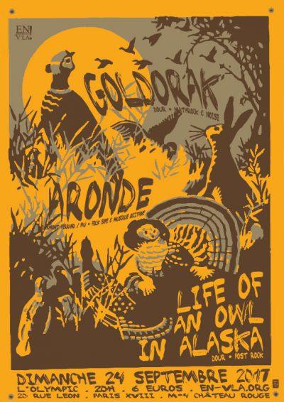[#473] Goldorak + Aronde + Life of an owl in Alaska @ L'Olympic // dimanche 24 septembre