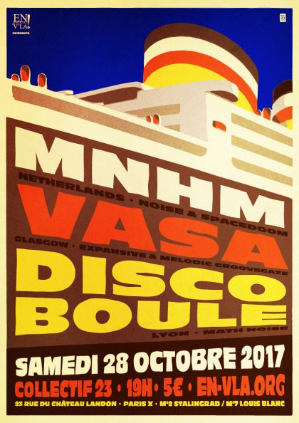 [#481] MNHM + Vasa + Disco Boule @ Le Collectif 23 // samedi 28 octobre