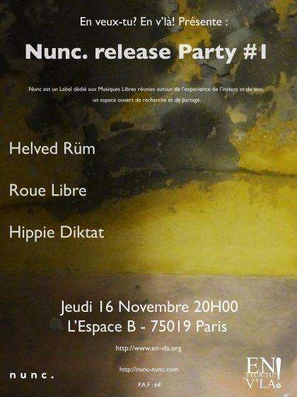 [#485] Hippie Diktat + Roue Libre + Helved Rüm @ L'Espace B // jeudi 16 novembre