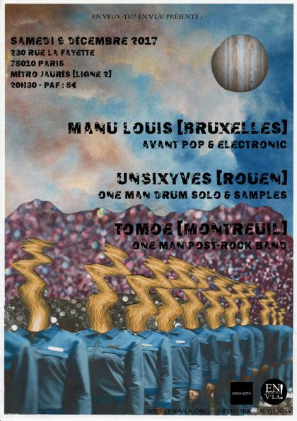 [#492] Manu Louis + UnSixYves + Tomoe @ La Pointe Lafayette // samedi 9 décembre