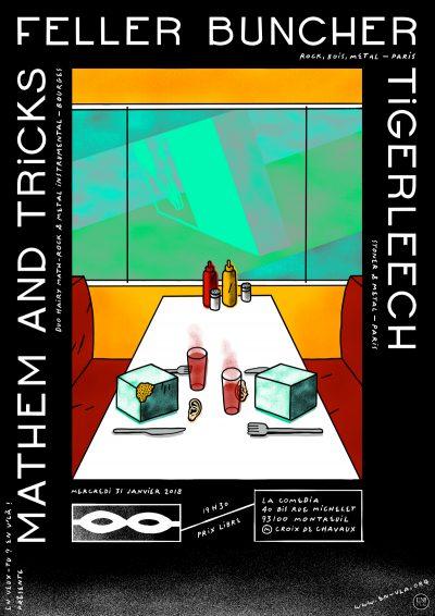 [#498] Mathem and Tricks + Feller Buncher + Tigerleech @ La Comedia // mercredi 31 janvier