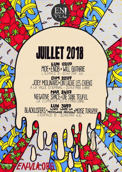 la prog de juillet 2018 [artwork : La Légende]