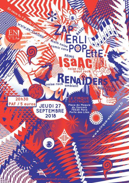 [#537] Zaperlipopette + ISaAC + Renaïders @ Le Cirque Electrique // jeudi 27 septembre
