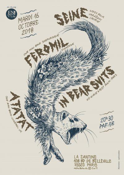 [#542] Seine + Atatat + Feromil + In Bear Suits @ La Cantine // mardi 16 octobre