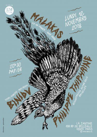 [#550] Binidu + Malakas + Philippe Thiphaine @ La Cantine // lundi 12 novembre