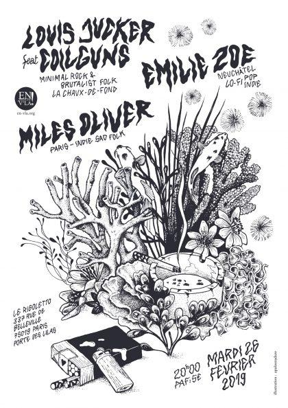 [#567] Louis Jucker + Emilie Zoé + Miles Oliver @ Le Rigoletto // mardi 26 février