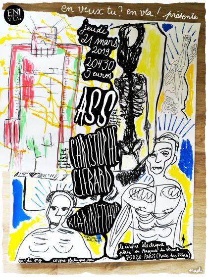[#573] Ass + Christophe Clébard + Klarinetthor @ Le Cirque Electrique // jeudi 21 mars