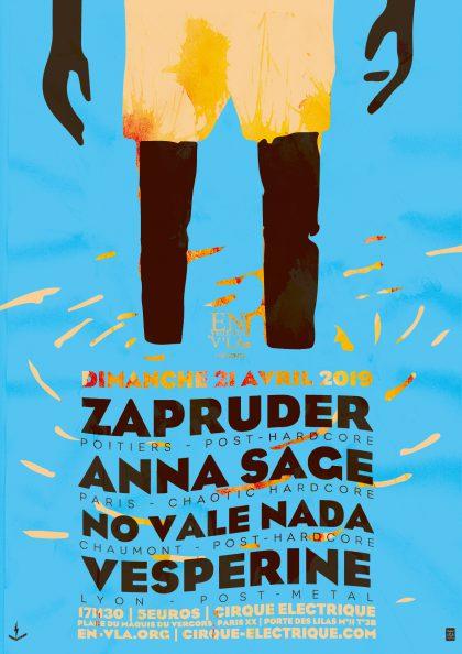 [#579] Zapruder + Anna Sage + No Vale Nada + Vesperine @ Le Cirque Electrique // dimanche 21 avril