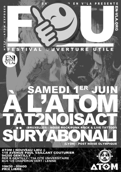 [#588] Tat2NoisAct + Süryabonali + Qui @ L'Atom // samedi 1er juin