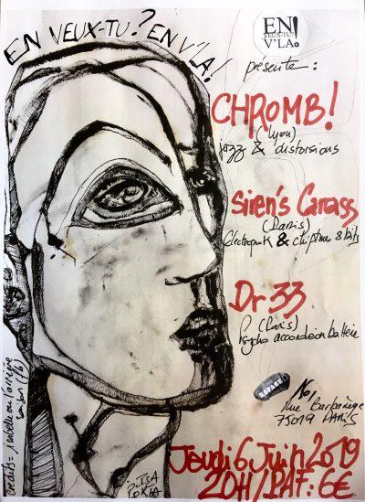[#589] CHROMB! + Siren's Carcass + Dr 33 @ L'Espace B // jeudi 6 juin