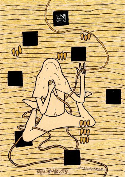 confinemerde : «affiche sans concert» #1 [artwork : Pichpich Légende]