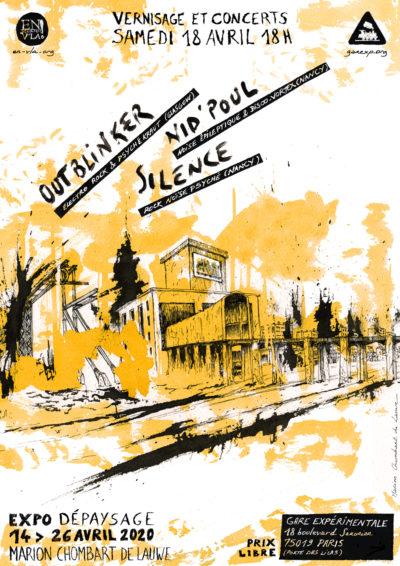 [ANNULÉ] Outblinker + Silence + Nid'pOuL @La Gare Experimentale // samedi 18 avril