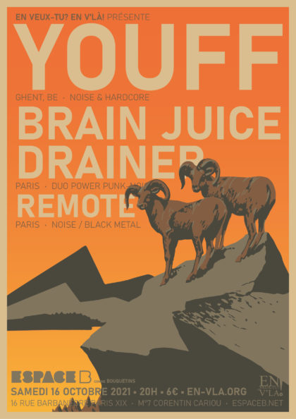 [#633] Youff + Brain Juice Drainer + Remote @ L'Espace B // samedi 16 octobre